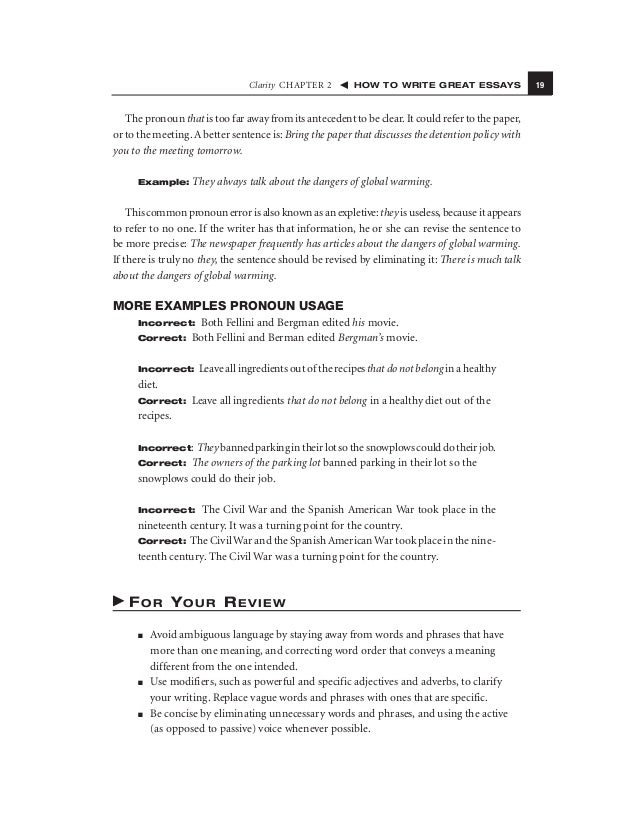 How To Write Great Essays Newspaper 31 Word Choice Chapter 3 How To Write  Great Essays