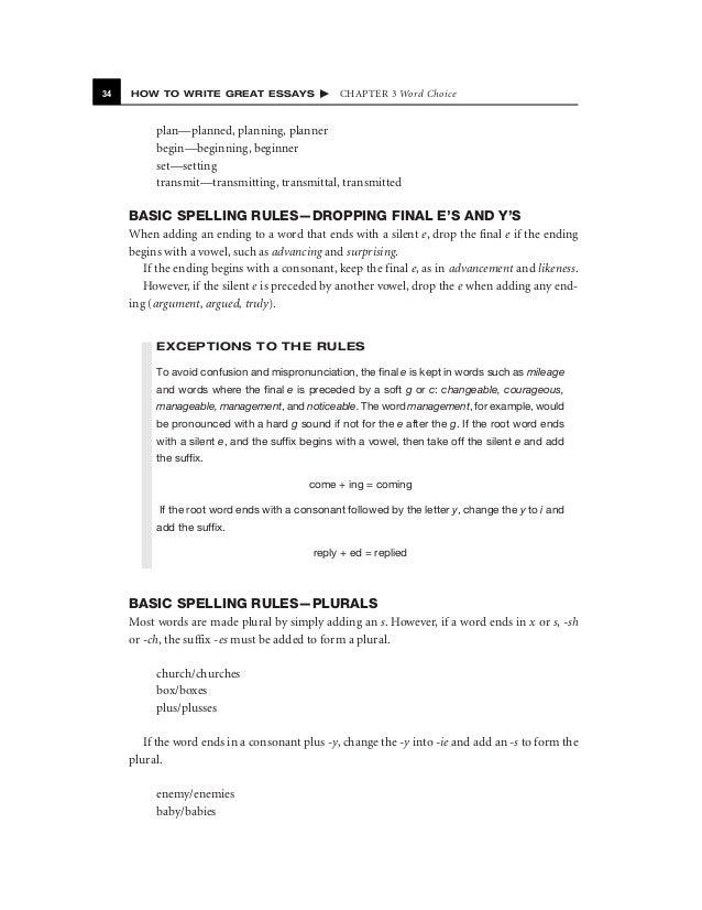 writing essay format