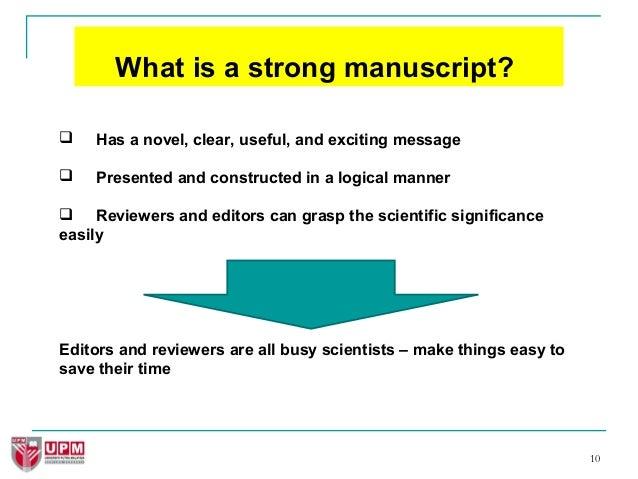 manuscript writing examples
