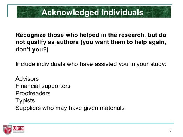 how to write recommendations in research papers