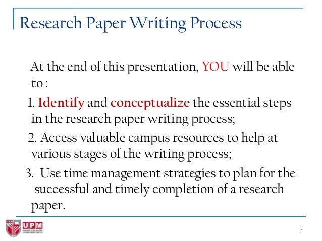 writing process for research papers Rather, it is about the principles and attitude that can help guide the process of  writing in particular and research in general in this regard.