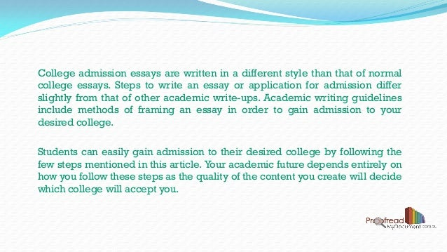 How to write an admission essay x college