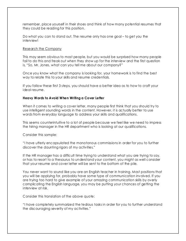 what to say in cover letter