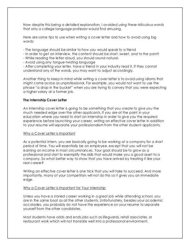 impressive cover letter for job application
