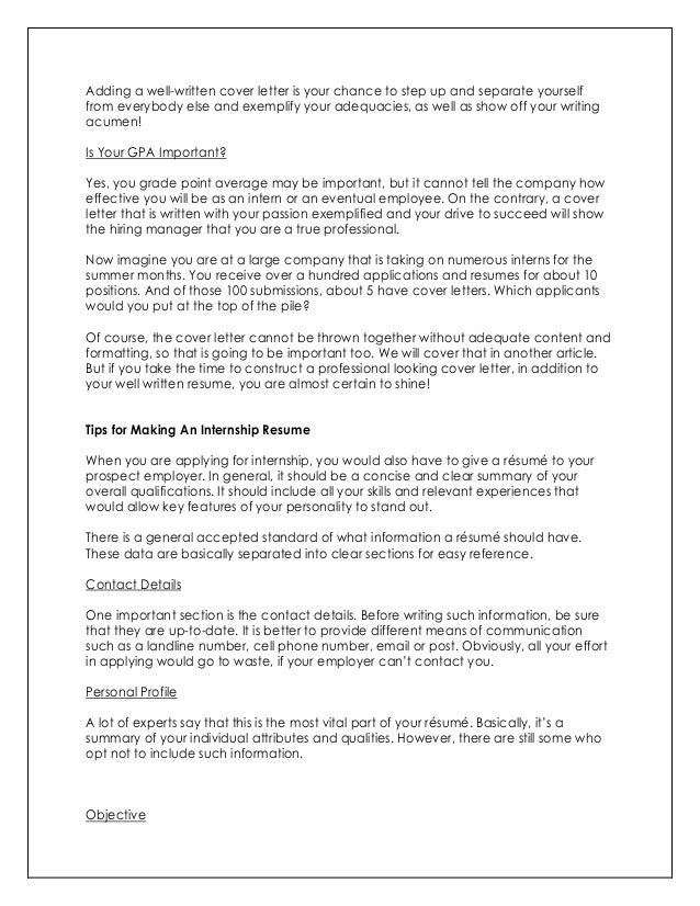 How To Write Impressive Resume And Cover Letter