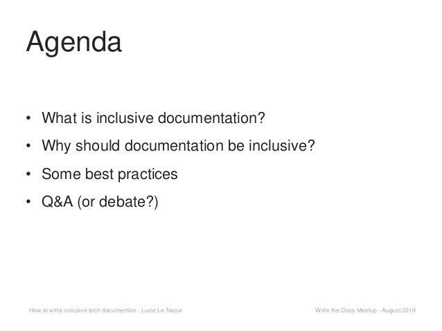 How to write inclusive tech documentation Slide 2