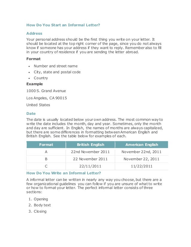 How To Start A Letter To Someone.How To Write Informal Letters In English 1