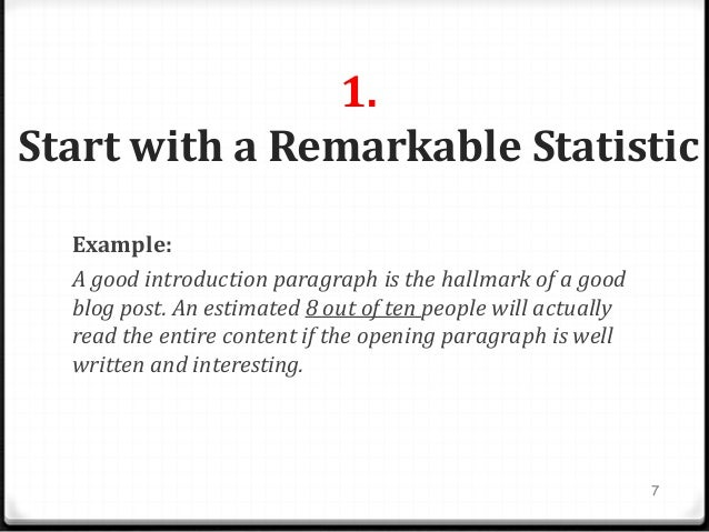 Example Of A Good Introduction To An Essay