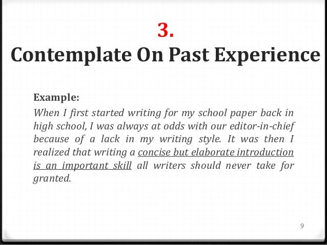 writing a good introduction to an essay If you feel confident about your essay-writing skills, you can certainly branch out  into longer and more complex essays but this basic five-paragraph outline is a  good starting point, especially if you feel  paragraph one -- the introduction.