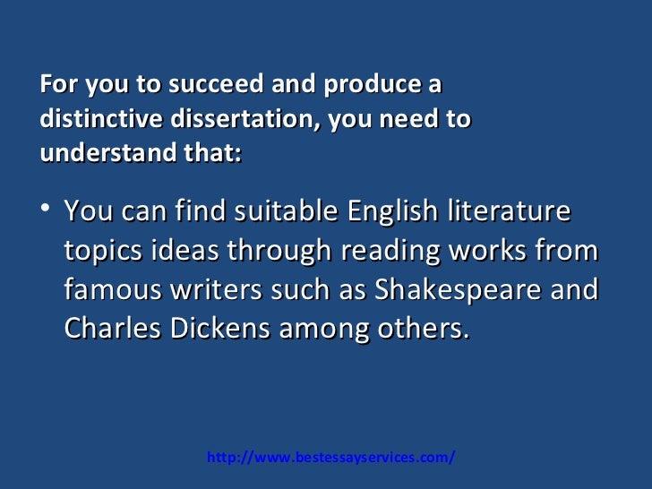 Phd no dissertation topics english literature