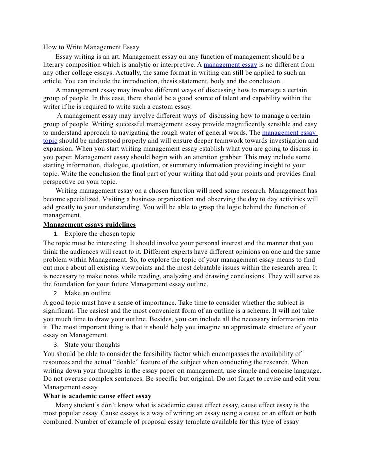 Best Categorical Topics for Writing Management Thesis