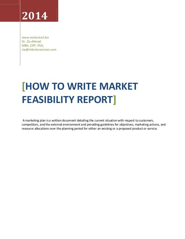 writing a feasibility report