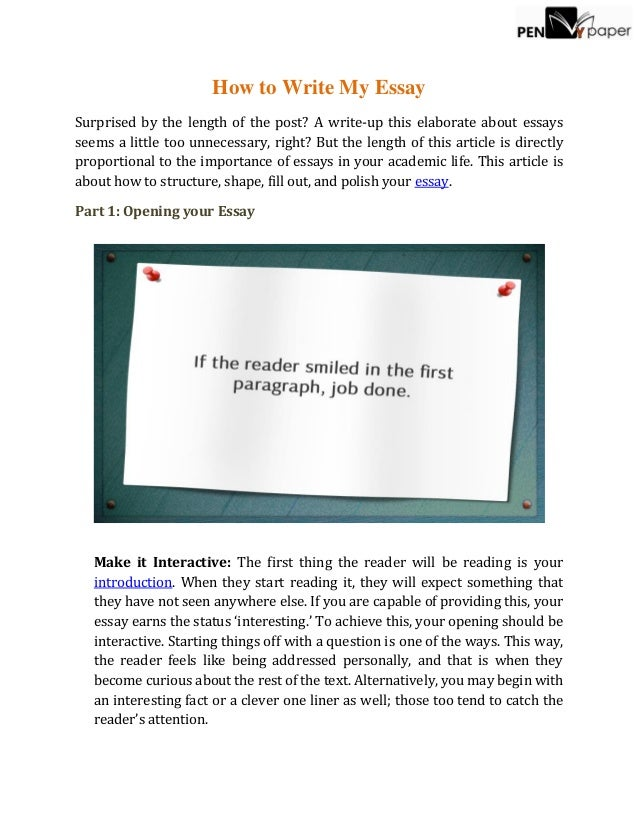 How To Write My Essay How To Write My Essay Surprised By The Length Of The Post