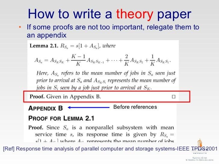 Writing a theory paper english creative writing
