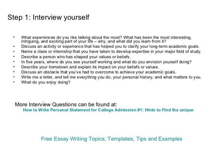 College admission essay personal statement self esteem essay