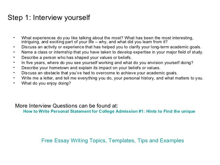 Steps to writing a college admissions essay