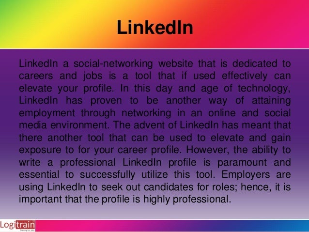 How to write professionally LinkedIn Profile Slide 2