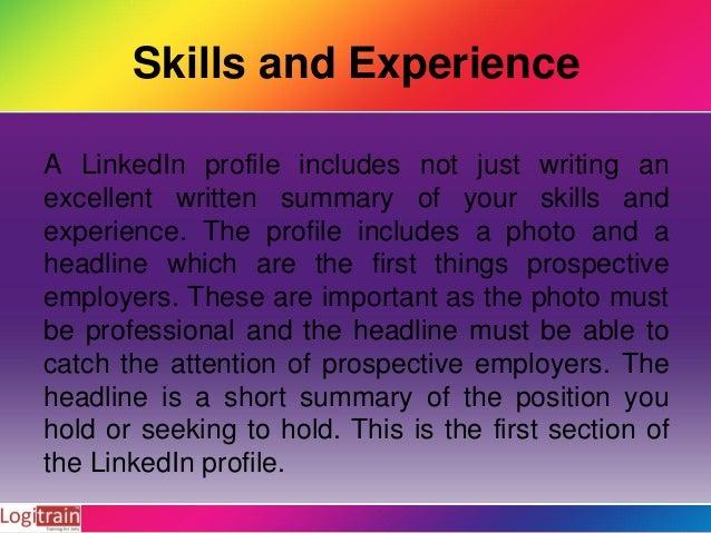 How to write professionally LinkedIn Profile Slide 3
