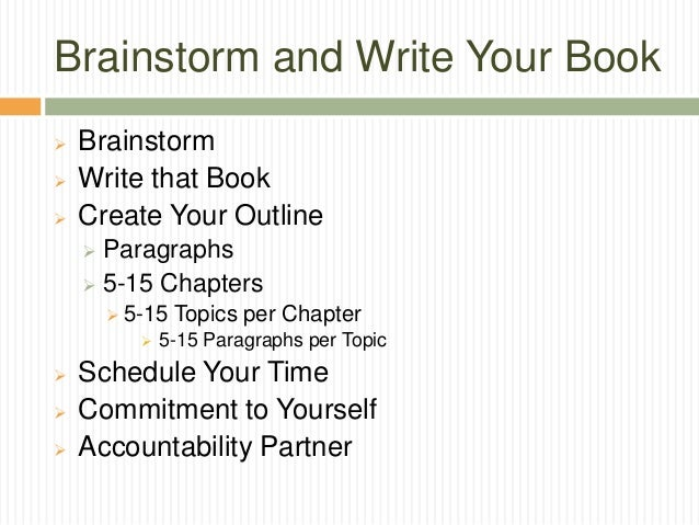 how to write your own book and publish it
