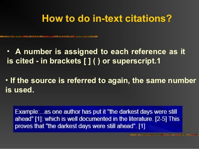 how to write in text reference