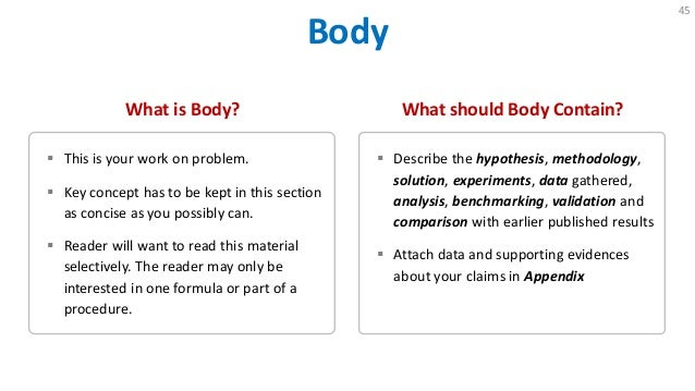 write body research paper How to write a science fair project research paper includes key areas for research and sample papers.