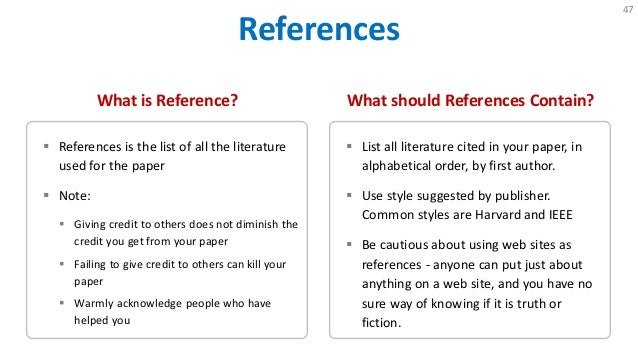 web reference in research paper Academic sources for essays   any doubts or concerns about any of the sources you want to use in your paper,  academic articles from academic web sites.