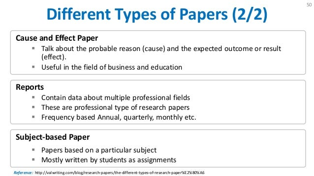 four types of research papers How to write a research paper generally, speaking, there are two types of research paper: an argumentative research paper or an analytic research paper.