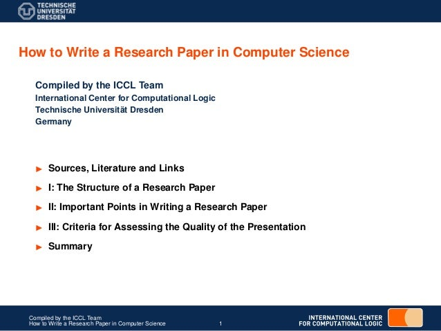 publish research paper computer science