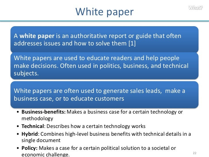 writing a white paper guidelines