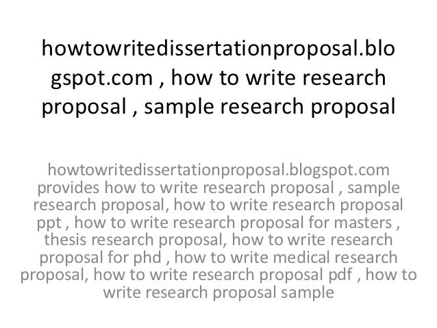 how to prepare research proposal How to write a research proposal the starting point for every paper, be it a term paper or a finals' paper, should be a thoroughly worked-out research proposal.