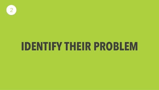 IDENTIFY THEIR PROBLEM  2