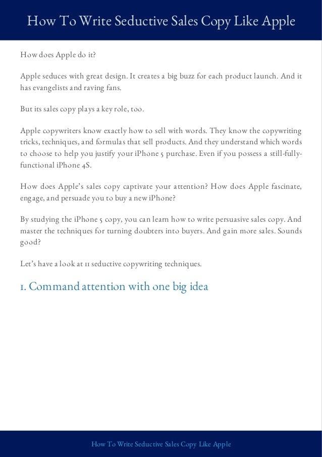 How To Write Seductive Sales Copy Like Apple