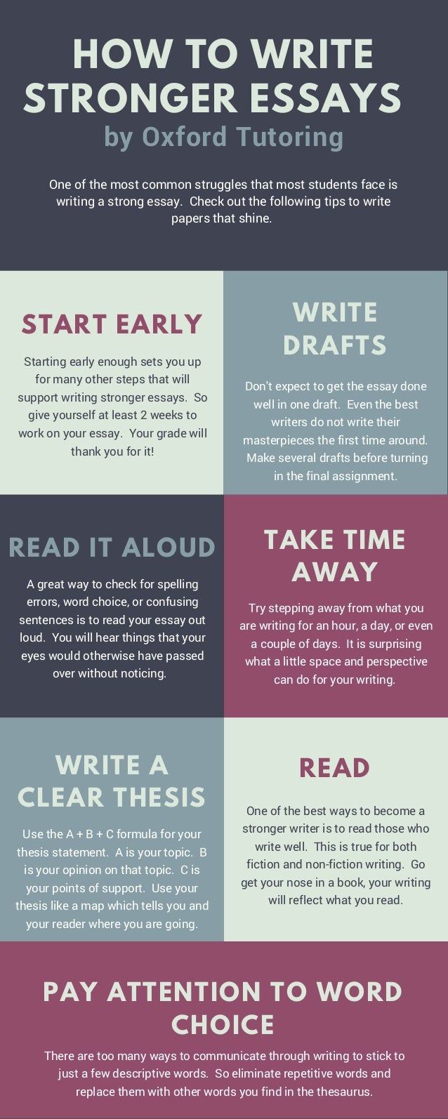 One of the most common struggles that most students face is writing a strong essay. Check out the following tips to write ...