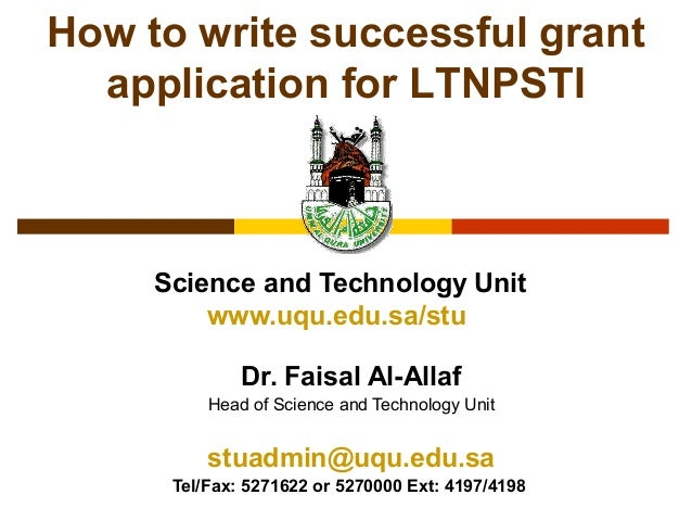 Science and Technology Unitwww.uqu.edu.sa/stuDr. Faisal Al-AllafHead of Science and Technology Unitstuadmin@uqu.edu.saTel/...