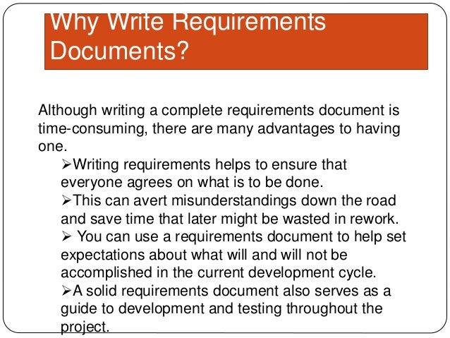 how to write software requirements Requirements definitions are the key to success in the design the software shall acquire for more information on writing good requirements, visit www.