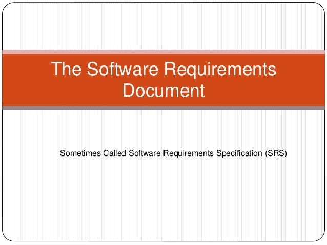 Writing Software Requirement Document