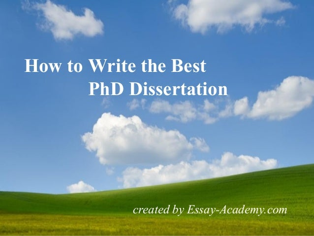 Best Phd Dissertation Tools