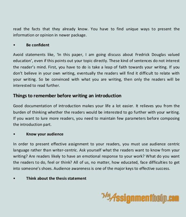 Write an assignment