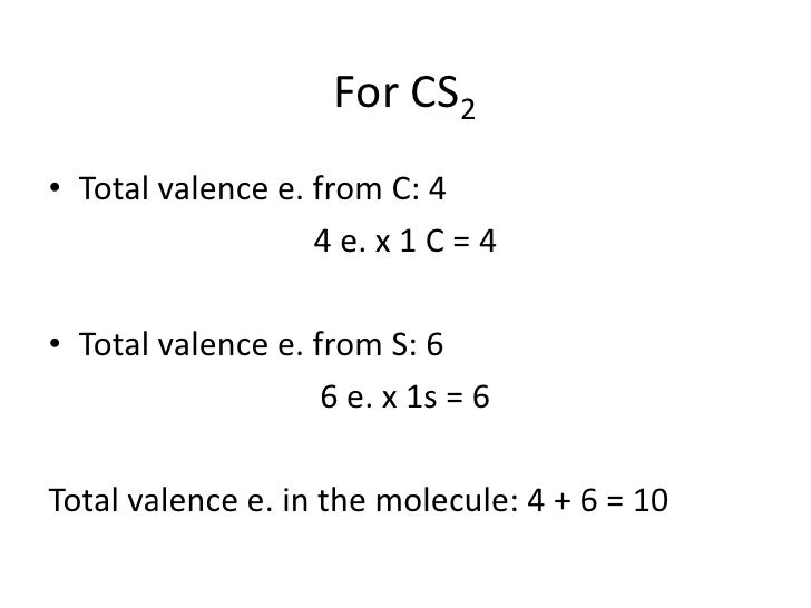 How To Write The Lewis Structure Of Carbon Disulfide