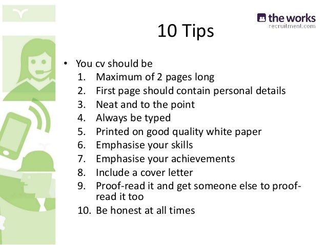 How to write the perfect CV.