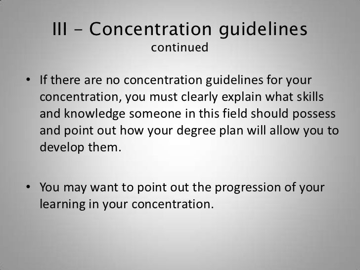 how to write the rationale essay 13 iii concentration