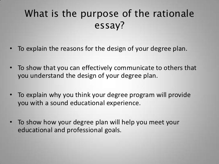 Dissertation rationale for study