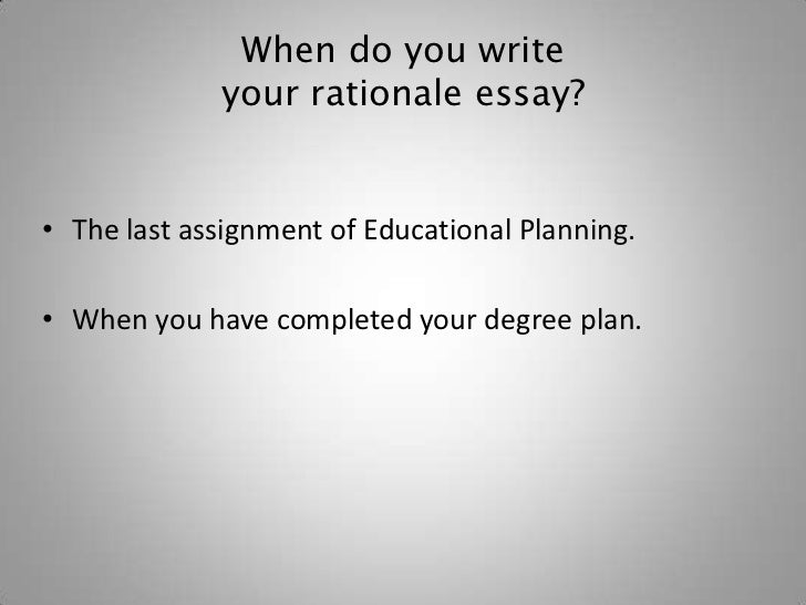 How to write a dissertation rationale