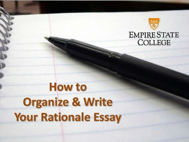 Rationale essay