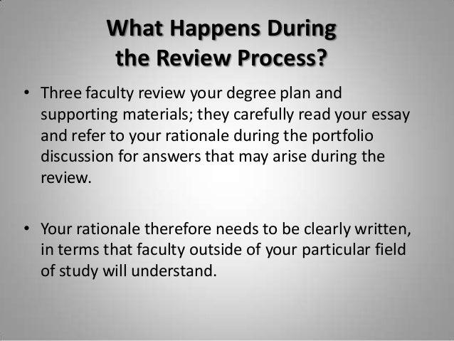 Rationale essay