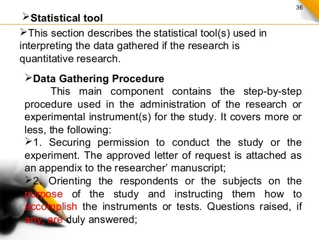 Data gathering procedure and output thesis proposal
