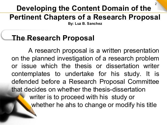 Parts of a thesis proposal