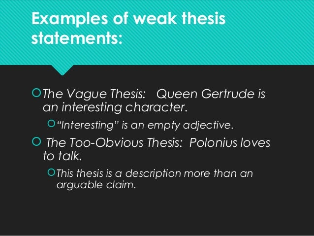 polonius thesis This is the case of polonius family the real tragedy of hamlet is not that of hamlet or his family but of polonius  1 2 hamlet essays / hamlet.