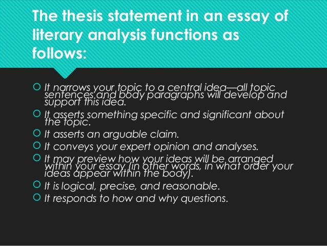 thesis statement test