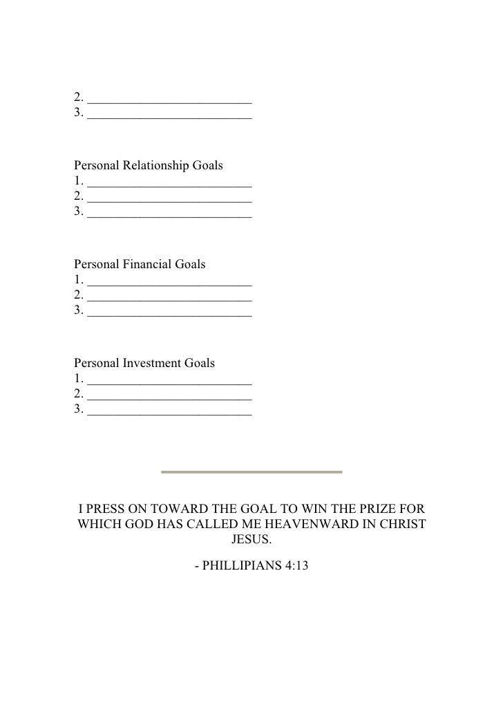 writing personal goals